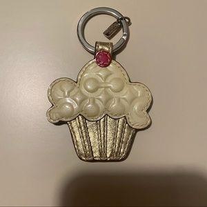 Coach cupcake keychain
